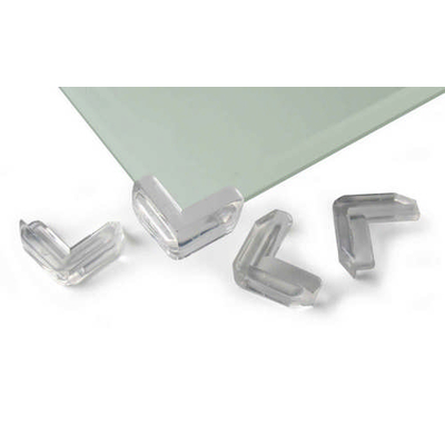 prot ge coins pour table en verre transparents. Black Bedroom Furniture Sets. Home Design Ideas