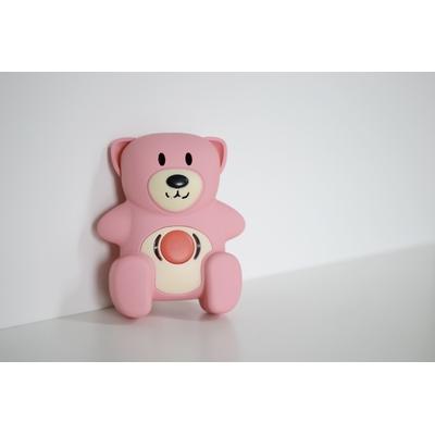 Ourson teddy tag rose
