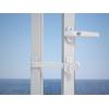 Entrebaîlleur pour fenêtre PVC blanc à coller ou à visser