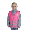 Gilet de sécurité routière enfant rose