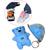 Teddy tag accroché sur chaussures enfant et  ensemble teddy tag bleu avec unité parentale