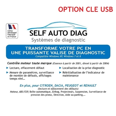 ULTIMATE DIAG ONE Distribué sur clé USB