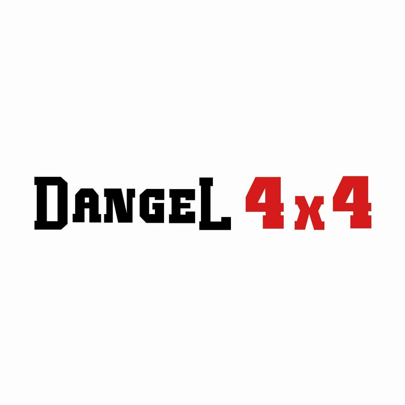 STICKERS DANGEL 4X4 ECRITURE
