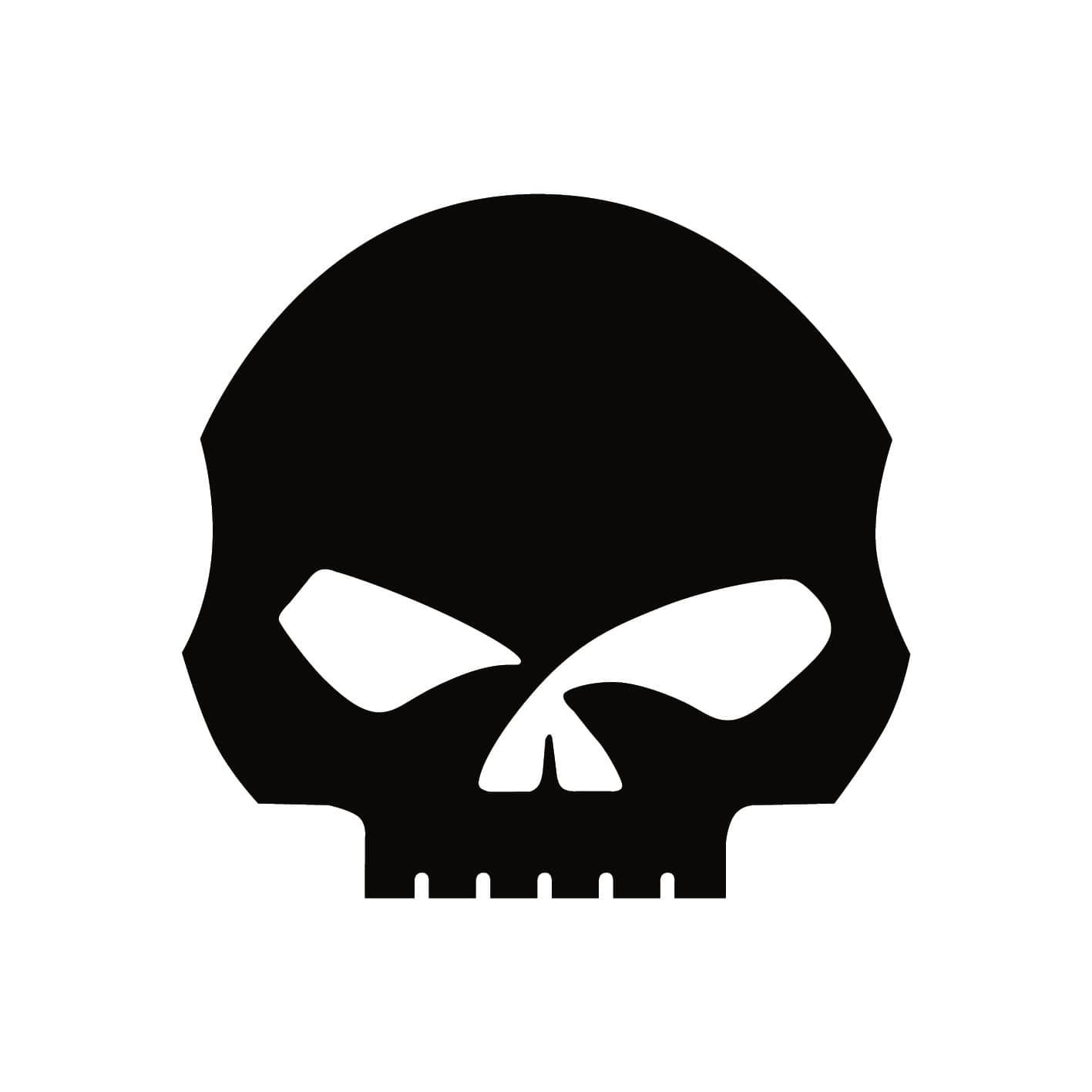 Autocollant harley davidson skull stickers moto