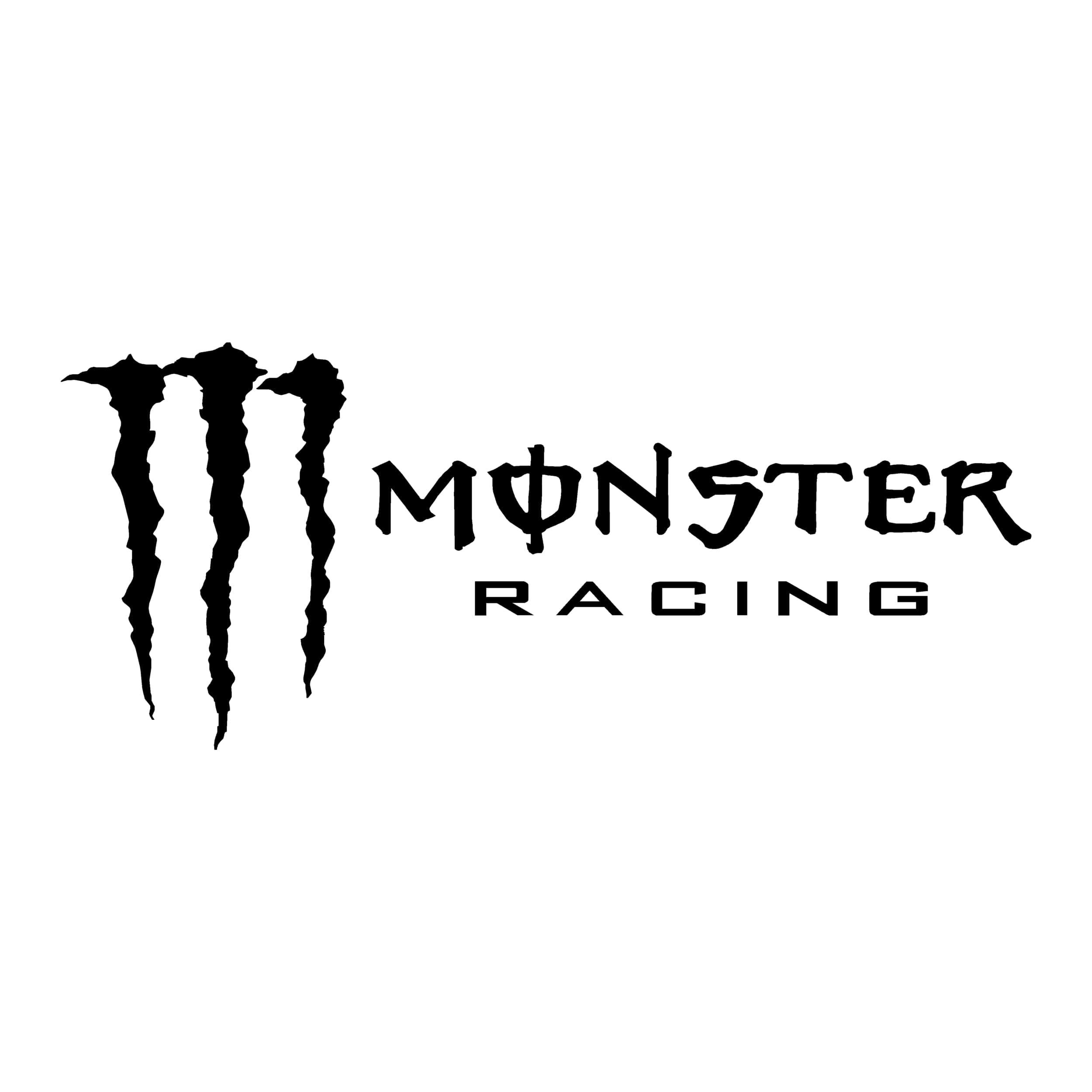 STICKERS MONSTER RACING LOGO