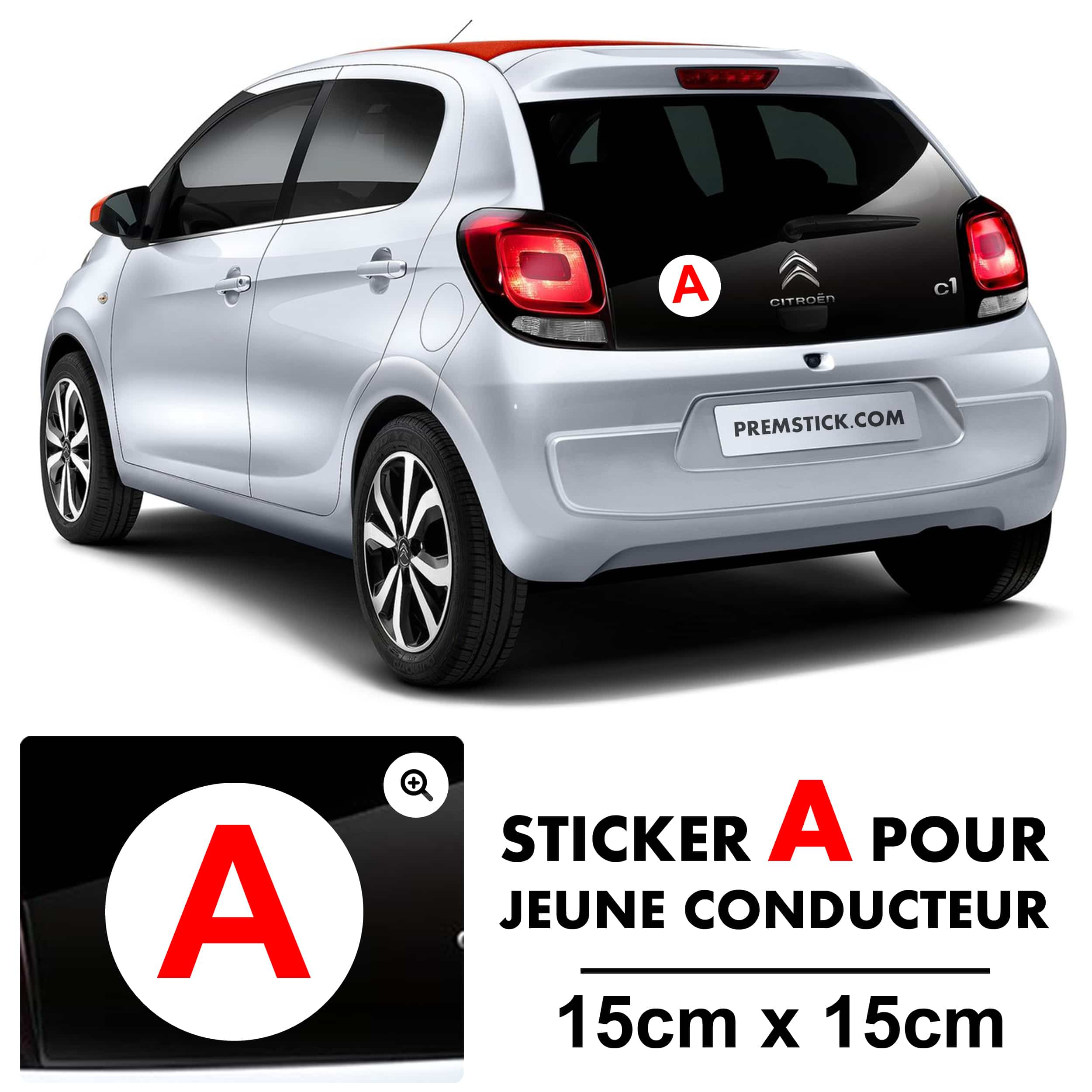 stickers a jeune conducteur classique autocollant voiture. Black Bedroom Furniture Sets. Home Design Ideas