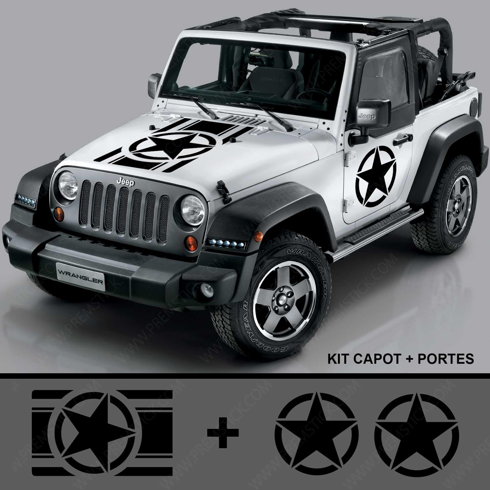 Jeep 1700x1700 Capot et portiere KIT 1