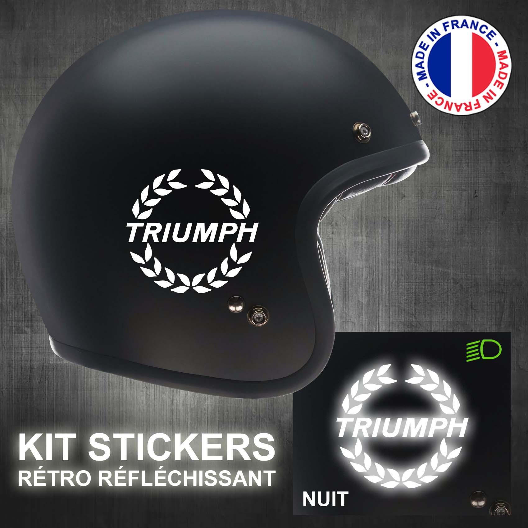 casque ref1 Stickers Triumph Autocollant moto deux roues scooter