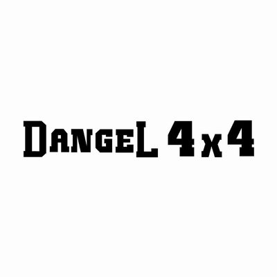 STICKERS DANGEL 4X4 ECRITURE PLEIN