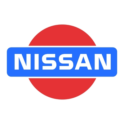 STICKERS NISSAN LOGO COULEURS