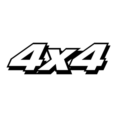 STICKERS 4X4 LOGO REF19