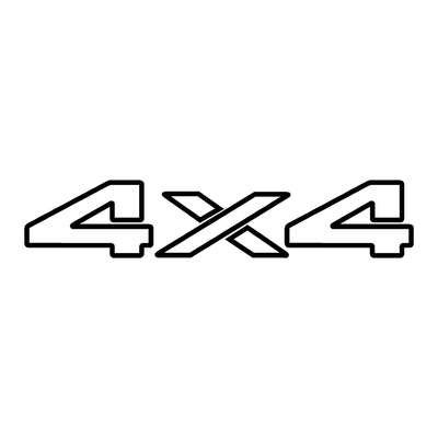 STICKERS 4X4 LOGO REF20