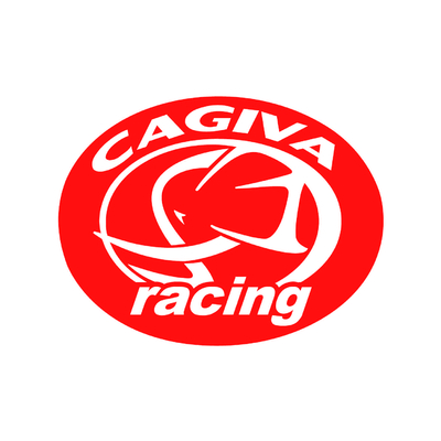 STICKERS CAGIVA RACING ROND