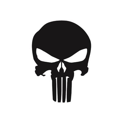 STICKERS HARLEY DAVIDSON THE PUNISHER LOGO