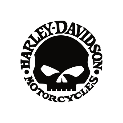 STICKERS HARLEY DAVIDSON SKULL