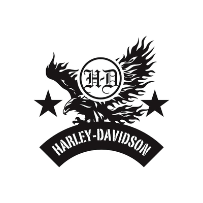 STICKERS HARLEY DAVIDSON AIGLE
