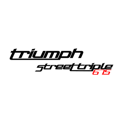STICKERS TRIUMPH STREET TRIPLE 675