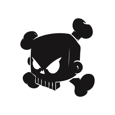 STICKERS KEN BLOCK SKULL