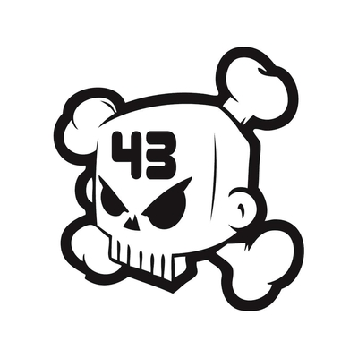 STICKERS KEN BLOCK 43 SKULL