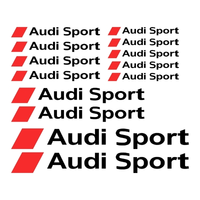 KIT 13 STICKERS AUDI SPORT LOGO