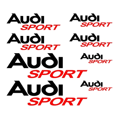 KIT 8 STICKERS AUDI SPORT