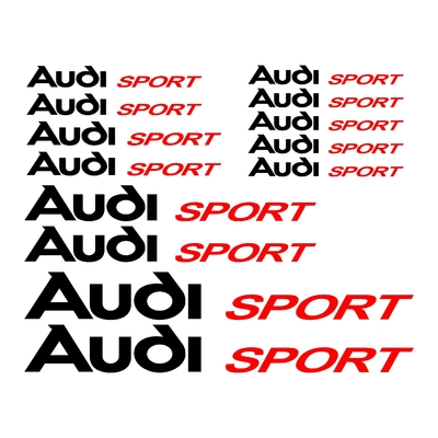 KIT 13 STICKERS AUDI SPORT