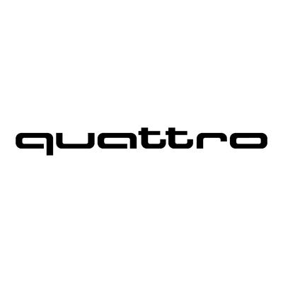 STICKERS AUDI QUATTRO LOGO
