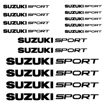 KIT 15 STICKERS SUZUKI SPORT