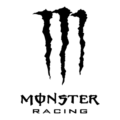 STICKERS MONSTER RACING