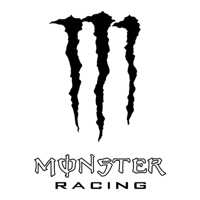 STICKERS MONSTER RACING CONTOUR