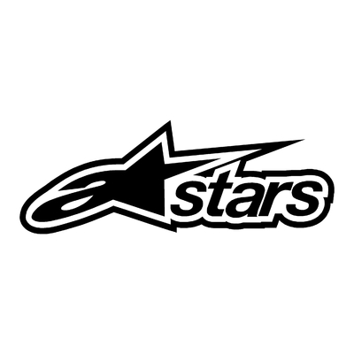 STICKERS ALPINESTARS STARS