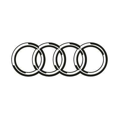 STICKERS AUDI LOGO 2