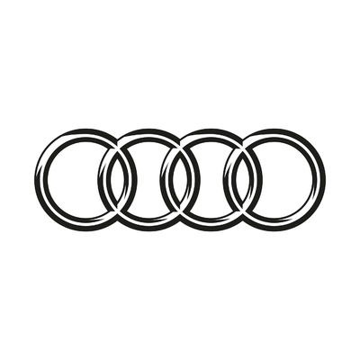 STICKERS AUDI LOGO 3