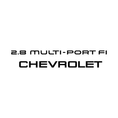 STICKERS CHEVROLET 2.8 MULTI-PORT FI