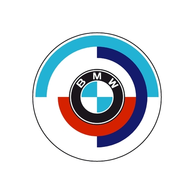 STICKERS BMW LOGO COULEURS