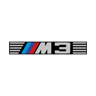 STICKERS BMW M3 BANDEAU