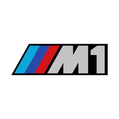 STICKERS BMW M1 COULEURS