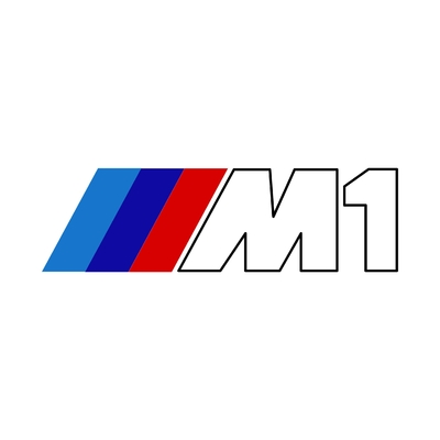 STICKERS BMW M1 LOGO