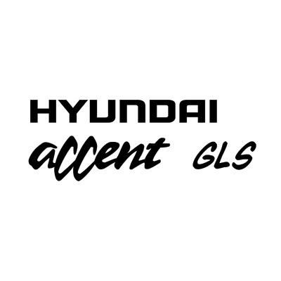 STICKERS HYUNDAI ACCENT GLS