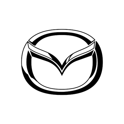 STICKERS MAZDA LOGO