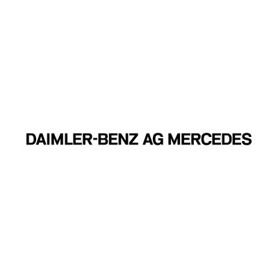 STICKERS MERCEDES DAIMLER-BENZ AG