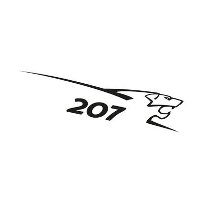 STICKERS PEUGEOT 207 LION DROITE