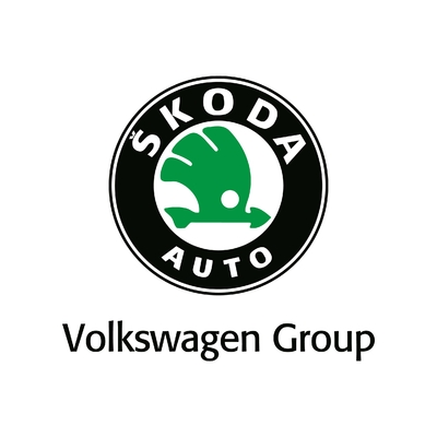 STICKERS SKODA LOGO COULEURS