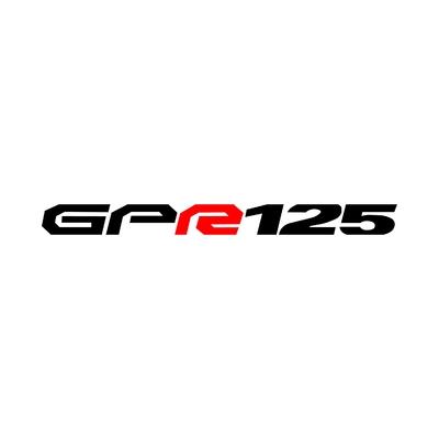 STICKERS DERBI GPR125