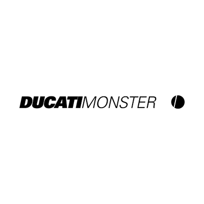 STICKERS DUCATI MONSTER LOGO
