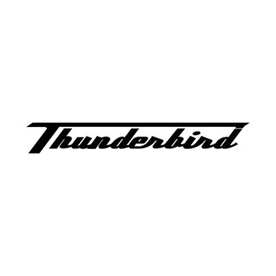 STICKERS TRIUMPH THUNDERBIRD ECRITURE