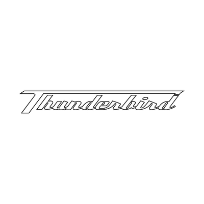 STICKERS TRIUMPH THUNDERBIRD CONTOUR