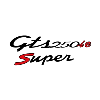 STICKERS VESPA GTS 250ie SUPER