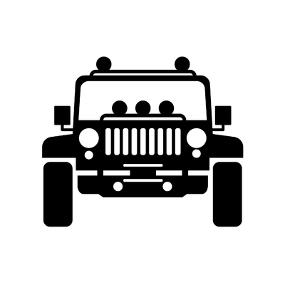 STICKERS JEEP 4X4 MODELE 3