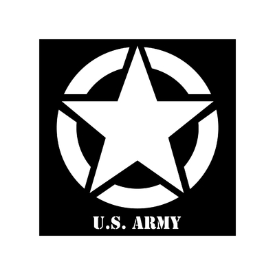 STICKERS JEEP US ARMY CONTOUR